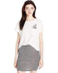 RVCA - Pocket Flower T-shirt - Lyst