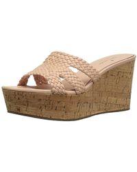 8628b3880651 Lyst - Kate Spade Theodora Cork Wedge Sandal Pink in Pink