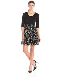 Plenty by Tracy Reese - Dresses Eliza Solid-top Dress With Patterned Skirt - Lyst