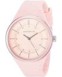 34d719c3decf Skechers 'basic Color Strap' Quartz Plastic And Silicone Casual Watch,  Color:pink