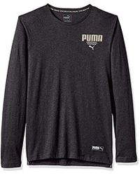 37f6b8febe3 Lyst - Puma Essential No. 1 Logo Long Sleeve T-shirt in Gray for Men