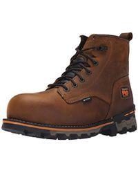 """Timberland 6"""" Boondock Composite-toe Waterproof Work Boot - Brown"""
