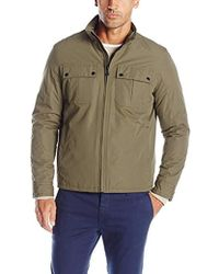 Cole Haan - City Rain Jacket With Patch Pockets - Lyst