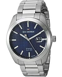 Ben Sherman - 'the Ronnie Professional' Quartz Stainless Steel Casual Watch, Color:silver-toned (model: Wbs109bsm) - Lyst