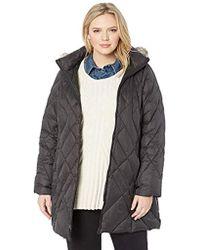 5b3c8197fdb5c Jones New York - Plus Size Down Coat With Cozy-trimmed Hood - Lyst