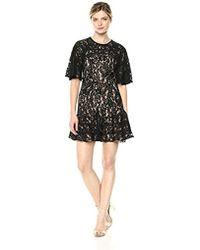 Keepsake - Dreamers Short Sleeve Lace Ruffle Hem Mini Dress - Lyst