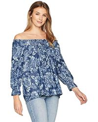 Bandolino - Emery 3/4 Sleeve Peasant Top With Smocking Detailing - Lyst