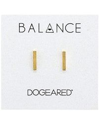 Dogeared - Balance Flat Bar Stud Earrings (gold) Earring - Lyst