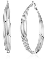Kenneth Cole - S Extra Large Trinity Rings Twisted Hoop Earrings - Lyst