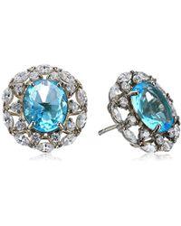 Nina - Spring 17 Crystal Gold Stud Earrings - Lyst