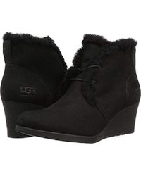 0200b258b0f Lyst - UGG Alasdair Waterproof Wedge Bootie in Brown