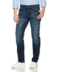 True Religion - Geno Slim Straight Jeans Back Flap Pockets, Blue Cascade, 32 - Lyst