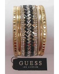 Guess - 5 Pc Bangle Set With Stones, Gold, One Size - Lyst