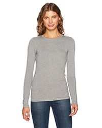 Majestic Filatures - Long Superwashed Crew Neck With Flat-edge Trim - Lyst