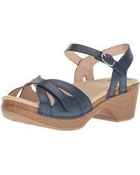 35487e1f18753e Lyst - Parme Marin Braided Sandal in Blue