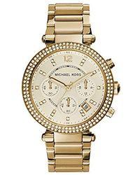 Michael Kors - Ladies Parker Chronograph Watch - Lyst