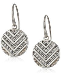 Fossil - S Chevron Glitz Drop Earrings - Lyst