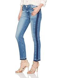 Hudson Jeans - Tilda Midrise Crop Cigarette With Side Seam Detail - Lyst