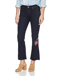 6d65980c3d8 James Jeans - Bella Bootie Cropped Flare In Flower Bomb, 26 - Lyst