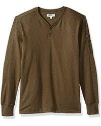 William Rast - Maverick Long Sleeve Henley Shirt With Arm Zip - Lyst