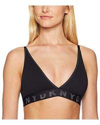 0d470bf6fb243 DKNY - Seamless Litewear Rib Bralette - Lyst