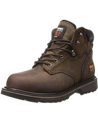 Timberland - 6 Pit Boss Steel Toe (black Oiled Full-grain Leather) Men's Work Lace-up Boots - Lyst