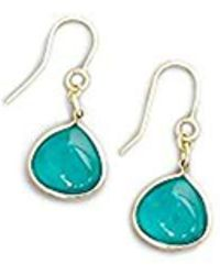 Kenneth Cole - Gold And Teal Drop Earrings - Lyst
