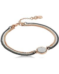 Kenneth Cole - Supercharged Collection Tri-tone With Silver Druzy Bracelet - Lyst