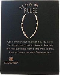 Dogeared - Long Arc Stud Earrings, - Lyst