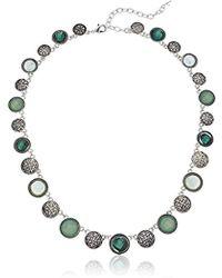 Napier - Multi-colored Circle Collar Necklace - Lyst