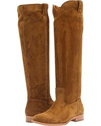 Frye - Cara Tall Suede Slouch Boot - Lyst