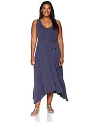 Lucky Brand - Size Plus V-neck Maxi Dress - Lyst