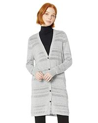 Lyst Hm Knee Length Cardigan In Gray