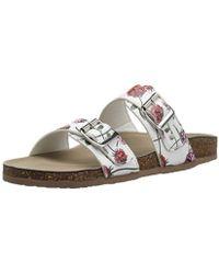 5cf483952e98 Lyst - Madden Girl Iridescent Brando Footbed Sandals