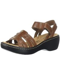 b00e9e04278f Lyst - Clarks Delana Nila Womens Sandals in Black