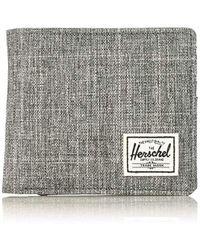 Herschel Supply Co. - Unisex-adults Hans Coin Xl Rfid Wallet, Raven Crosshatch, One Size - Lyst