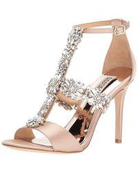 9c7fa5329933b Lyst - Badgley Mischka Munroe Jeweled Straps Dress Sandals in White