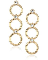 Kate Spade - S Delicate Linear Drop Earrings, Clear/gold - Lyst