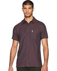 Ben Sherman - Short Sleeve Blocked Dobby Shirt - Lyst