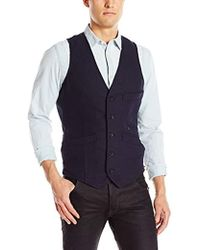 G-Star RAW - Blake Wool Waistcoat Vest - Lyst