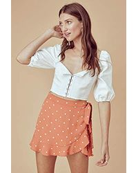For Love & Lemons Natalia Dot Skort - Orange