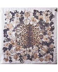 Roberto Cavalli - Patterned Scarf, Brown/white - Lyst