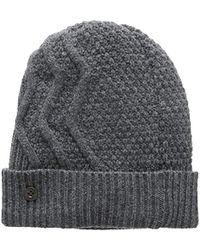 5a97cdb771d Dolce   Gabbana Grey Wool Cable Knit Beanie in Gray for Men - Lyst