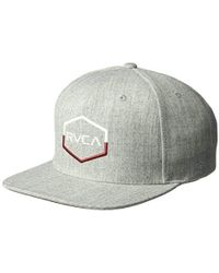 c68c59723b39f Lyst - Rvca Commonwealth Snapback Hat in Black for Men