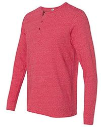 Alternative Apparel - Eco Mock-twist Henley Shirt - Lyst