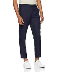 Filippa K - M. Terry Cropped Linen Slacks Suit Trousers - Lyst