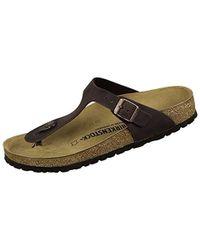 a430f8ac8b26 Lyst - Birkenstock Gizeh Birko-Flor Thong Sandal in Metallic