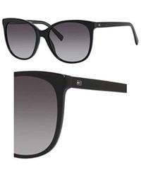 8dde254a6cc Lyst - Tommy Hilfiger Sunglasses T hilfiger 1383  s 0sf9 Black Semi ...