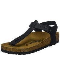 Birkenstock Kairo Birko-flor Nubuk - Sandals Unisex in Black - Lyst 8bdd71583d1