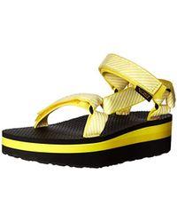 92a5e3f57e34 Lyst - Teva Women s Flatform Universal Sandal in Black